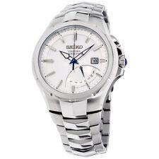 Seiko Coutura Movimiento de Cuarzo Plata Cuadrante Reloj para hombres SRN063
