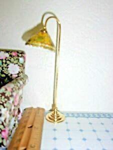 TIFFANY READING  LAMP - REUTTER PORCELAIN -  NON-ELECTRIC - DOLL HOUSE
