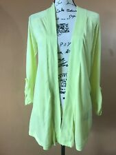 Express Women's Neon Yellow Open Front Cardigan Sweater Size Small