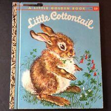 VINTAGE 1960 Little Golden Book LITTLE COTTONTAIL-