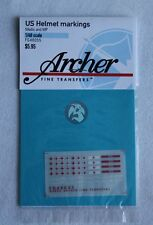 Archer 1/48 US M1 Helmet Insignias and Markings (Medic, MP and USN) FG48055