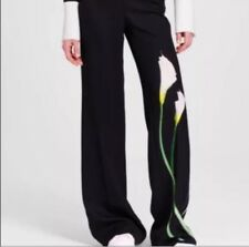 Victoria Beckham cible Calla Lily Floral Jambe Large Robe Pantalon Taille Us 0/UK 4/6