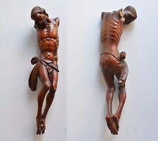 christ en buis janséniste fin XVII°s haute époque crucifix bois  école Flamande