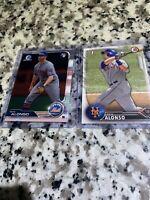 2019 Bowman Chrome #48 Pete Alonso New York Mets Rookie MLB & BD-92 1st HR RARE