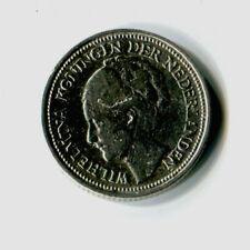 10 Cents Niederlande 1928 Wilhelmina Silber M_1091