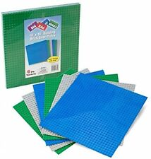 Brick Building Base Plates By SCS - Large 10 x10 Baseplates (6 Pack Variety -