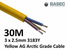 30M Arctic Yellow 3183Y Flex Cable 3core x 2.5mm Outdoor Construction Artic
