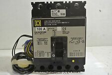 Square D FAL341001426 FAL34100 3P 480V 100A w/ 24VDC Shunt and Auxiliary Switch