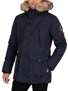 Superdry Men's Everest Parka Jacket, Blue