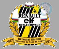 STICKER MAILLOT DE VELO BERNARD HINAULT TOUR DE FRANCE 1982 AUTOCOLLANT HB101