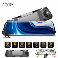 1080P IPS Touch Screen Car DVR Rear View Mirror Recorder Dash Cam Night Vision