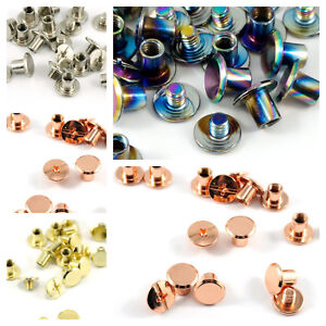 """SMALL CHICAGO SCREWS  3/16"""" / 4 mm - by Emmaline Bags - range of finishes"""