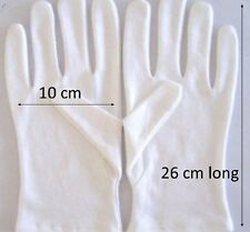12 x cotton under boxing gloves  26 cm extra long new washable white reusable