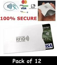 12 x RFID Wallet Blocking Card Protector Contactless Holder 100% Protection RF