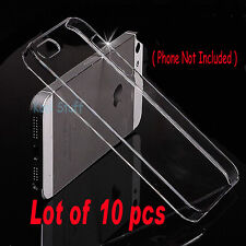 Lot of 10 pcs - New Crystal Clear Hard Snap-On Case Cover Apple iPhone 5 5G 5S