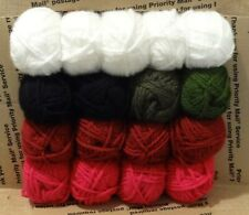 Huge Lot 17 Skeins Loops & Threads Charisma Yarn White Red Black Forest