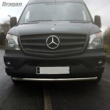 To Fit 2014+ Mercedes Sprinter Stainless Steel Front Bumper Spoiler Nudge Bar