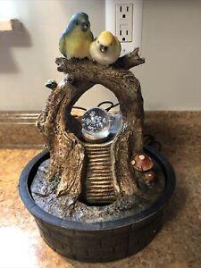 Cracker Barrel Indoor & Outdoor Bird LED Light Changing Water Fountain Free Ship