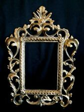 Vintage Brass Picture Frame Baroque Rococo Ornate Metalware