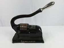 Antique Cast Iron AMERICAN PERFORATOR No 19 Perforating New York Chicago RARE