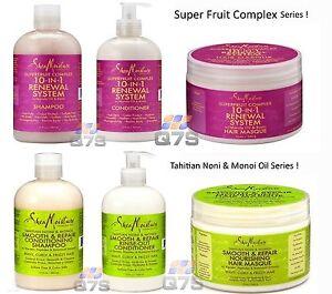 Shea Moisture Super Fruit Complex & Tahitian Noni & Monoi Oil Hair Products ©