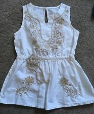 Cute H&M White Beige Sleeveless Top 2-3 Years Old RRP £9.99