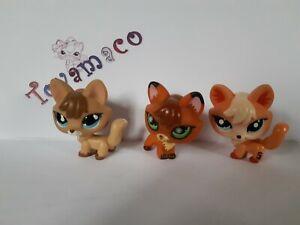 original LPS Littlest Pet Shop FOX x 3 = #673 + #807 +  #1812