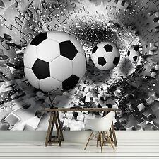 VLIES Fototapete Tapeten SPORT BALL FUSSBALL PUZZLE Tunnel 3D Magie  14N3382V8