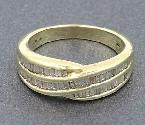 Womens Ring 9ct Gold Diamond Channel Set TCW Engagement Wedding Jewellery