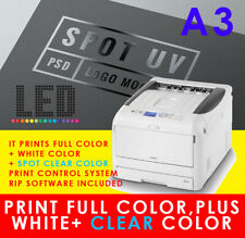 OKI White & Clear Varnish Ink Spot UV Printer with RIP,like C941 Pro9541 Pro9542