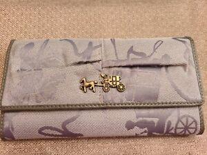 Coach Wallet Suede Collection Rare!