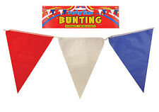 Red White Blue BUNTING Triangles Flag 7m Plastic GB UK Olympic Street Party