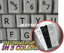 English US LARGE LETTERING Keyboard Sticker grey