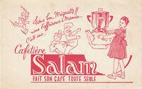 Buvard Vintage  Cafetière Salam