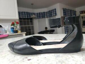 FRANCO SARTO Womens 'Hawley' Black Leather Sandals Sz 6.5 M - 230745