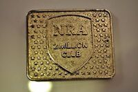 Vintage 70's NRA 2 Million Club Belt Buckle Silver Tone