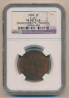 1805 Large Cent, S-267. NGC VF Details