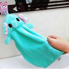 Baby Kids Nursery Hand Towel Cartoon Animal Kitchen Bathing Hang Wipe Soft Towe3
