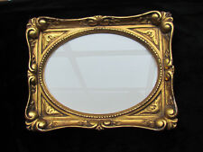 Antique Water Gilded Gold Handcarved Wood Miniature Picture Frame about 7 x 5.5""