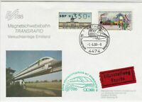 Germany 1988 Magnetic Train Slogan Cancels+Pic Cinderella Stamps Cover Ref 29242