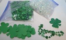 St. Patrick's Lot Garland Shamrocks Table Confetti Decorations
