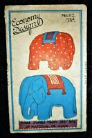 UNCUT RARE VINTAGE 1930's ECONOMY DESIGN SEWING PATTERN 112 STUFFED TOY ELEPHANT
