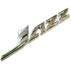 Chrome Car Badge For Jazz Tailgate Boot Rear Door Wing 150x25mm Uppercase