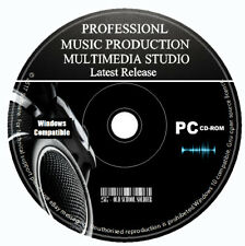 Pro Music Production Studio Multi-Track Editing Recording Mixing Software PC CD