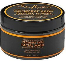 Shea Moisture African Black Soap Problem Skin Facial Mask 4 oz