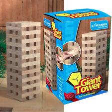 Giant Jenga Tower Wooden Blocks Outdoor Family Garden Game Kids Fun 1.2m Large1