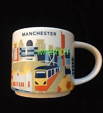Starbucks Manchester Mug YAH England Train Soccer Guitar UK Cup You Are Here