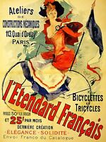 ART PRINT POSTER ADVERT BICYCLE STANDARD FRENCH PARIS FRANCE NOFL0512