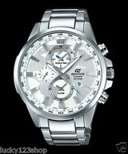 EFR-303D-7A White Casio Edifice Men's Watch Stainless Band Analog Brand-New 100m