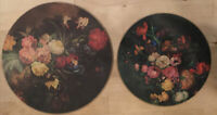 10 Lady Clare Vintage Floral Round Placemats Chargers 6Lg 4 Sm Harrods England -